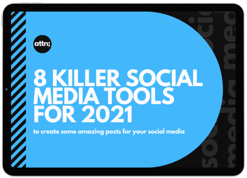 Social Media Guide Tools - Toolbox - Ipad Mockup - Cropped and Trans