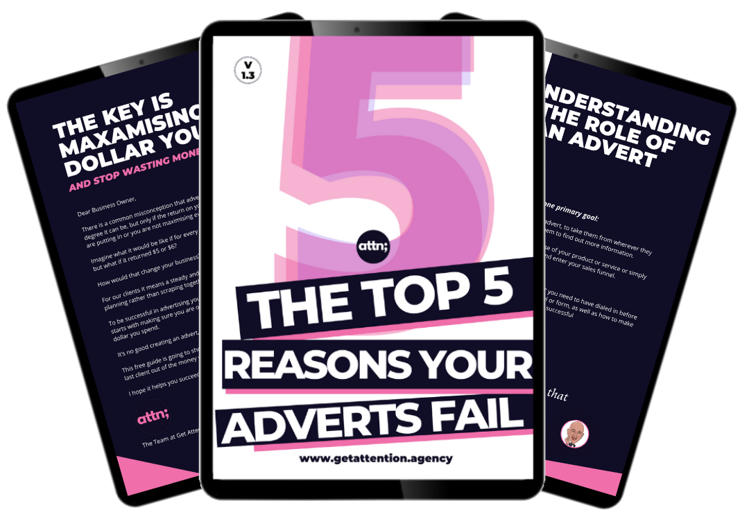 3 IMAGES - TOP 5 REASONS YOUR ADVERTS FAIL - FINAL CROPPED AND TRANSPARENT